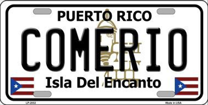 Comerio Metal Novelty License Plate LP-2832