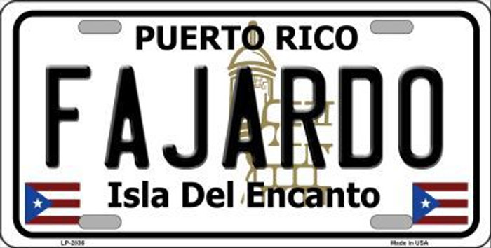 Fajardo Metal Novelty License Plate LP-2836