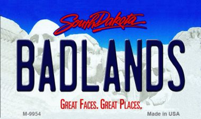 Badlands South Dakota State Background Magnet Novelty