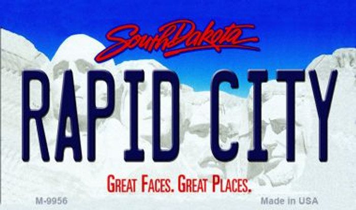 Rapid City South Dakota State Background Magnet Novelty