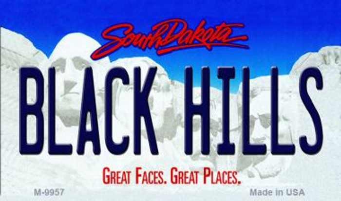 Black Hills South Dakota State Background Magnet Novelty