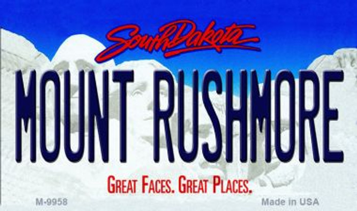 Mount Rushmore South Dakota State Background Magnet Novelty