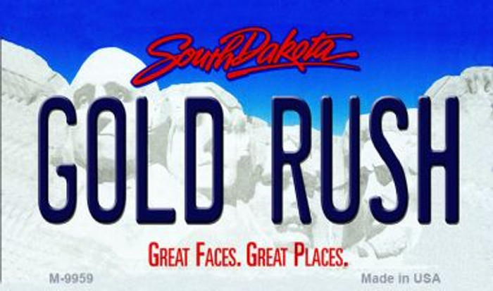 Gold Rush South Dakota State Background Magnet Novelty