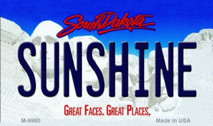 Sunshine South Dakota State Background Magnet Novelty