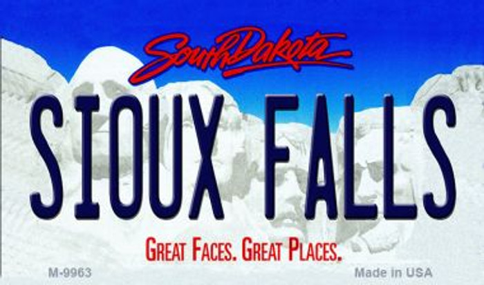 Sioux Falls South Dakota State Background Magnet Novelty Wholesale