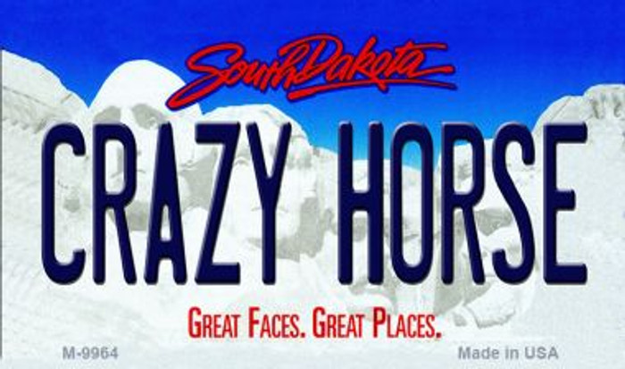 Crazy Horse South Dakota State Background Magnet Novelty