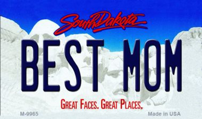 Best Mom South Dakota State Background Magnet Novelty