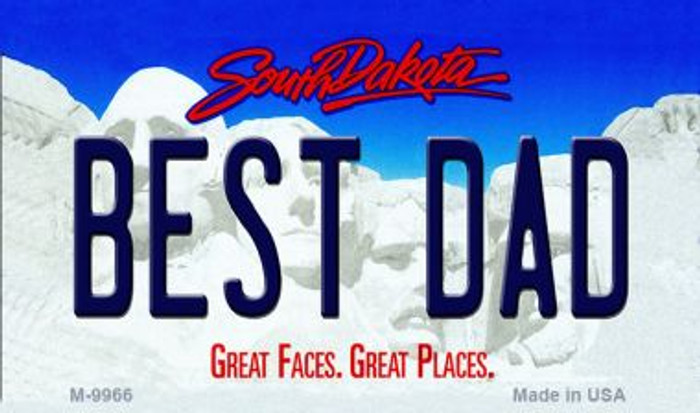 Best Dad South Dakota State Background Magnet Novelty