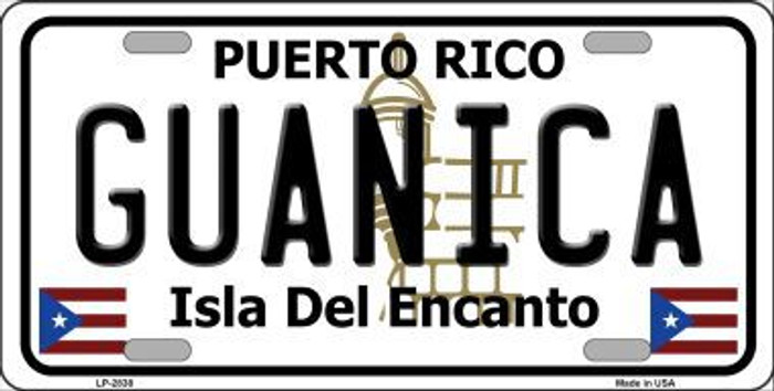 Guanica Puerto Rico Metal Novelty License Plate LP-2838