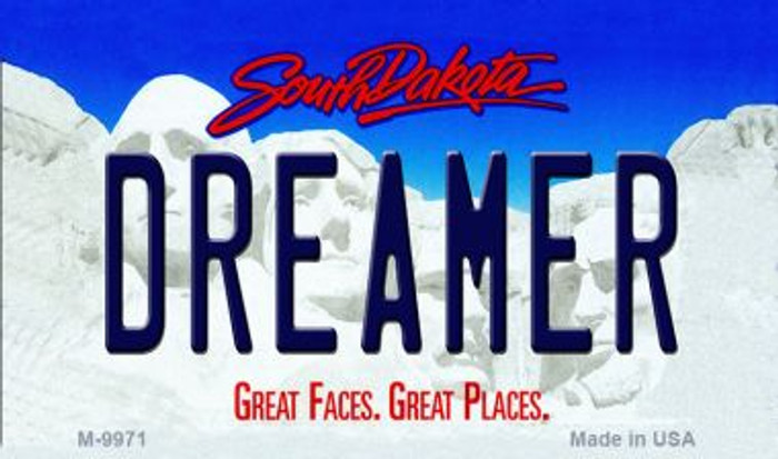 Dreamer South Dakota State Background Magnet Novelty
