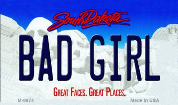 Bad Girl South Dakota State Background Magnet Novelty
