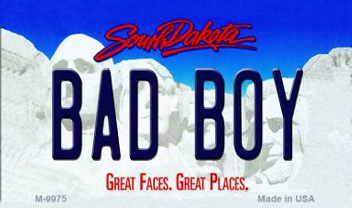 Bad Boy South Dakota State Background Magnet Novelty