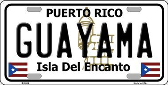 Guayama Puerto Rico Metal Novelty License Plate LP-2839