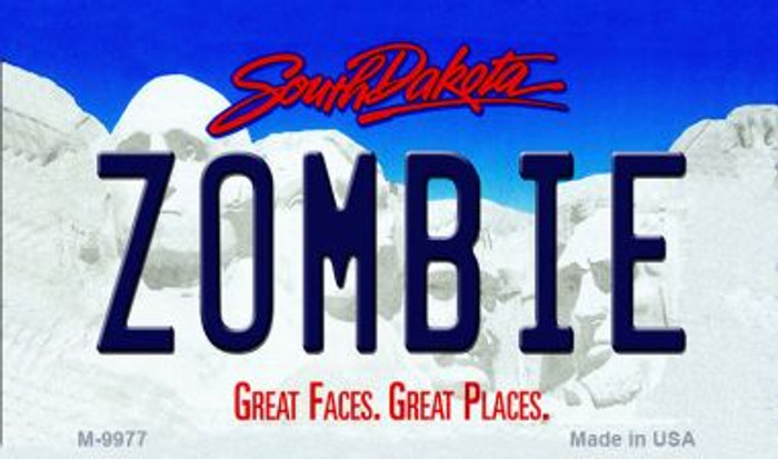 Zombie South Dakota State Background Magnet Novelty