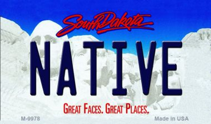 Native South Dakota State Background Magnet Novelty