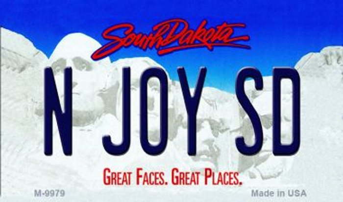 N Joy SD South Dakota State Background Magnet Novelty