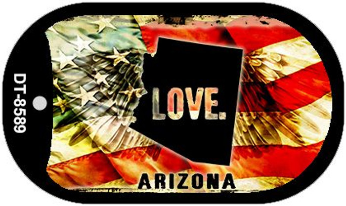"Arizona Love Dog Tag Kit 2"" Metal Novelty"