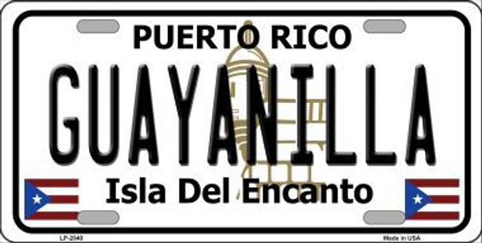 Guayanilla Puerto Rico Metal Novelty License Plate LP-2840