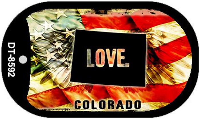 "Colorado Love Dog Tag Kit 2"" Metal Novelty"