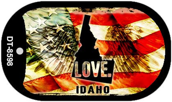 "Idaho Love Dog Tag Kit 2"" Metal Novelty"