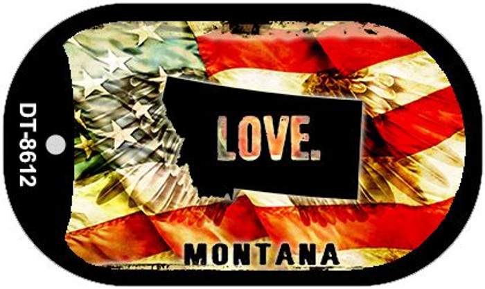 "Montana Love Dog Tag Kit 2"" Metal Novelty"