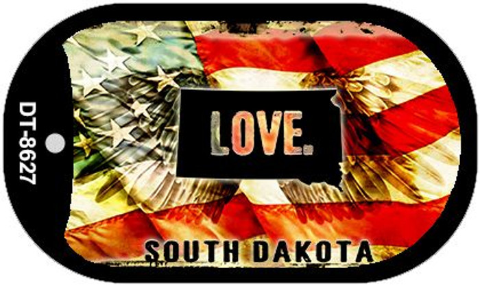 "South Dakota Love Dog Tag Kit 2"" Metal Novelty"