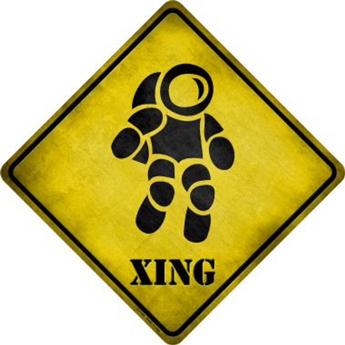 Astronaut Xing Novelty Metal Crossing Sign