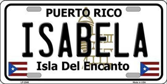 Isabela Puerto Rico Metal Novelty License Plate LP-2846
