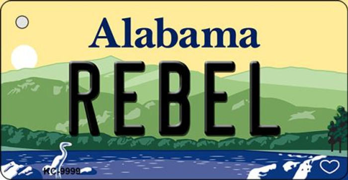 Rebel Alabama Background Key Chain Metal Novelty