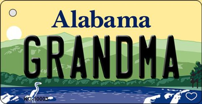 Grandma Alabama Background Key Chain Metal Novelty