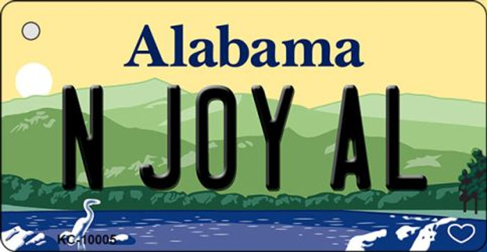 N Joy AL Alabama Background Key Chain Metal Novelty