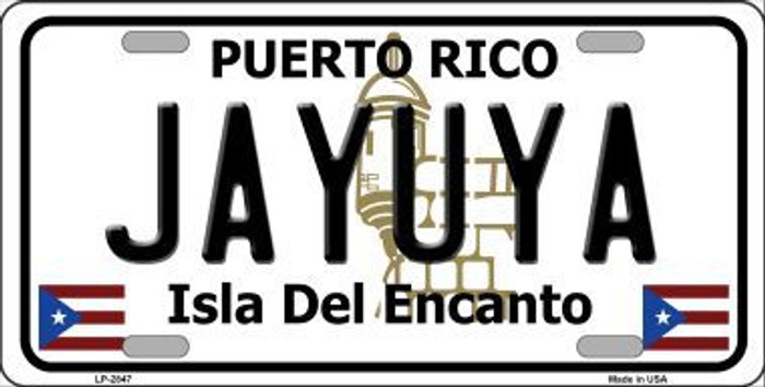 Jayuya Puerto Rico Metal Novelty License Plate LP-2847