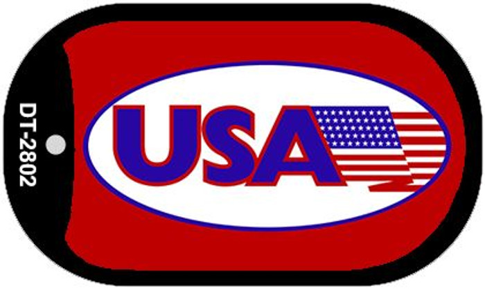 "USA Dog Tag Kit 2"" Metal Novelty"