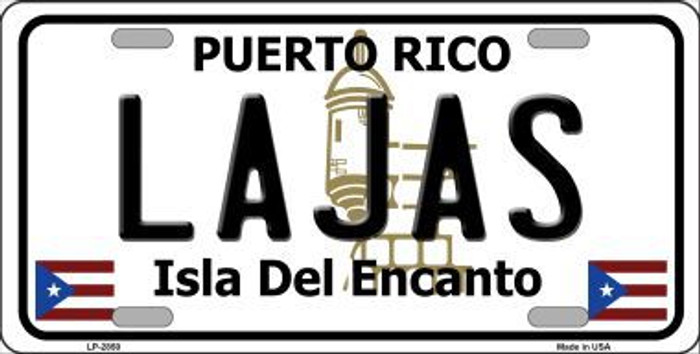 Lajas Puerto Rico Metal Novelty License Plate LP-2850