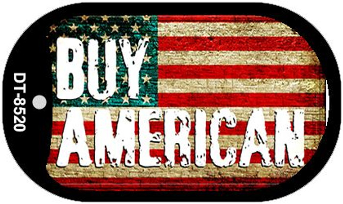"Buy American Dog Tag Kit 2"" Metal Novelty"