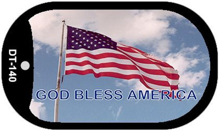 "God Bless America Dog Tag Kit 2"" Metal Novelty"
