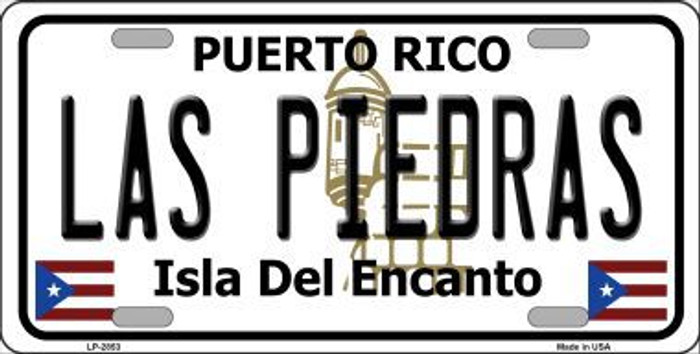 Las Piedras Puerto Rico Metal Novelty License Plate LP-2853