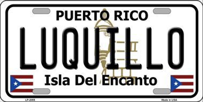 Luqillo Puerto Rico Novelt Metal Novelty License Plate LP-2855