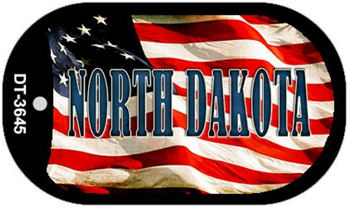"North Dakota Dog Tag Kit 2"" Metal Novelty"