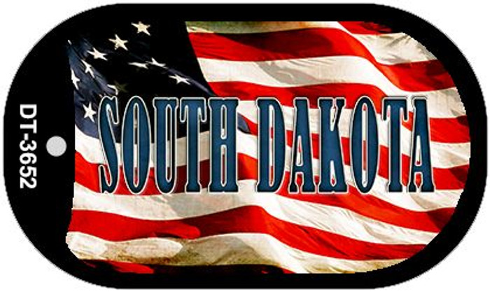"South Dakota Dog Tag Kit 2"" Metal Novelty"