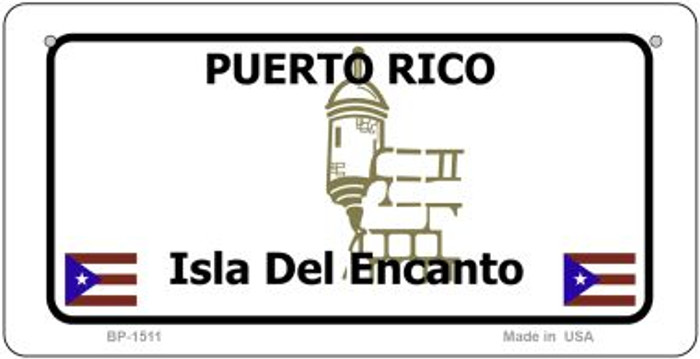 Puerto Rico State Background Novelty Bicycle License Plate