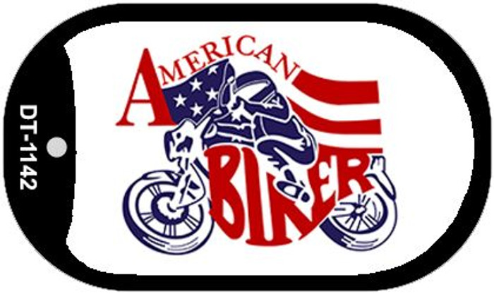 "American Biker Dog Tag Kit 2"" Metal Novelty"