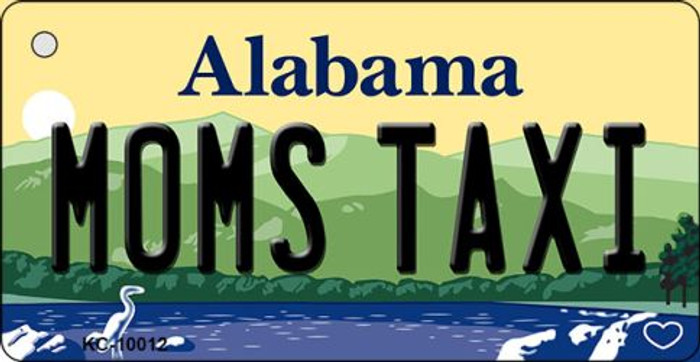 Moms Taxi Alabama Background Key Chain Metal Novelty