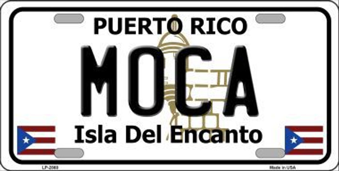 Moca Puerto Rico Metal Novelty License Plate LP-2860