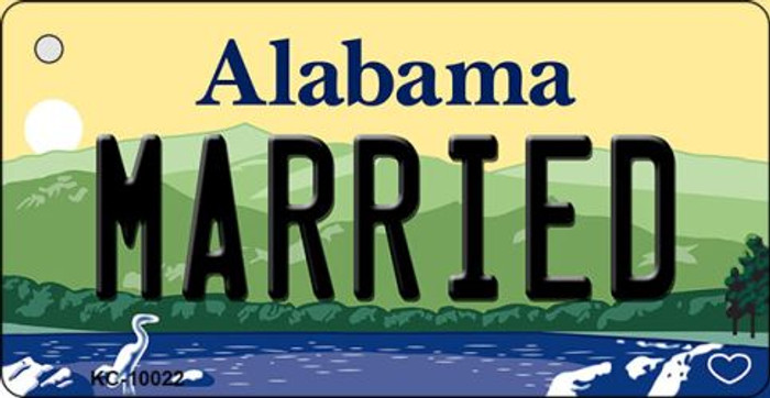 Married Alabama Background Key Chain Metal Novelty KC-10022