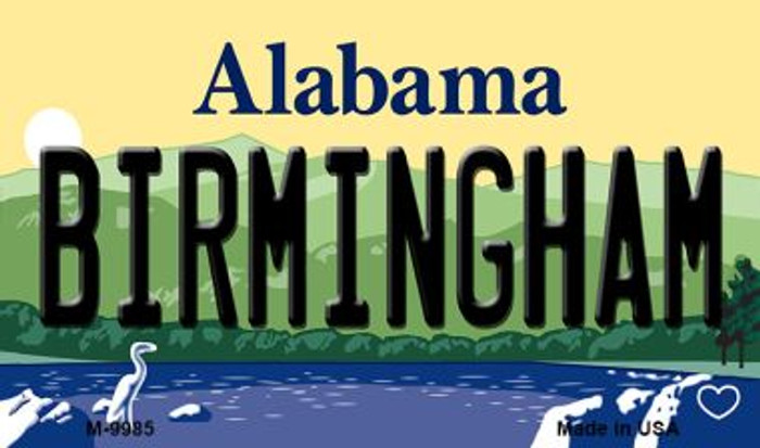 Birmingham Alabama State Background Magnet Novelty