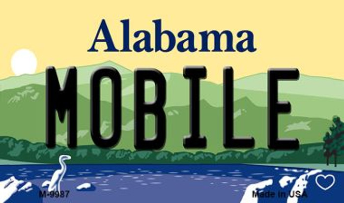 Mobile Alabama State Magnet Novelty M-9987