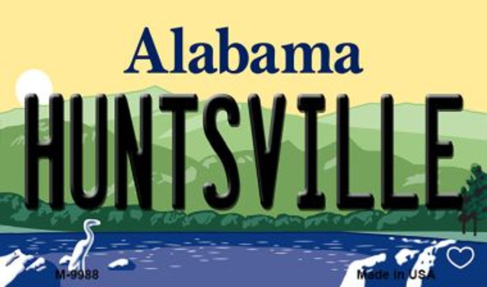 Huntsville Alabama State Background Magnet Novelty