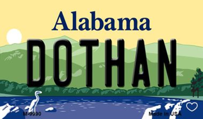 Dothan Alabama State Background Magnet Novelty