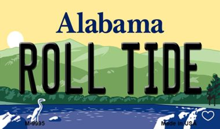 Roll Tide Alabama State Background Magnet Novelty